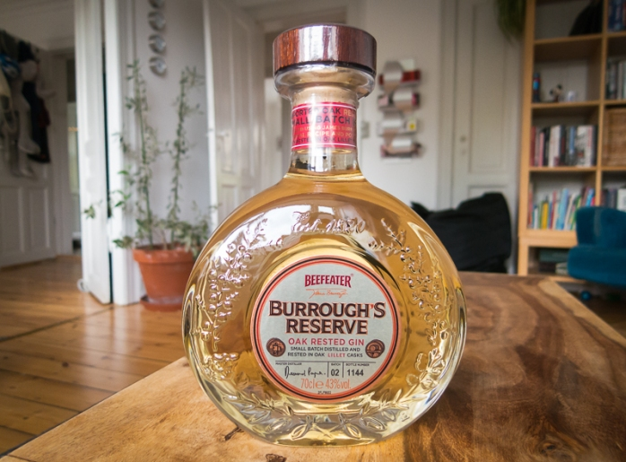 Beefeater Burrough's Reserve Oak Rested Gin.