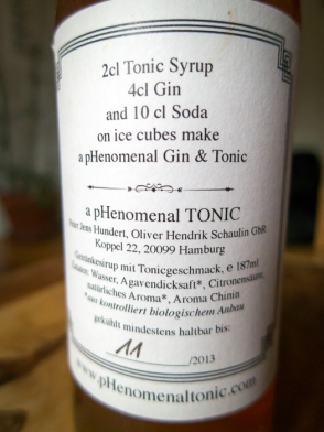 pHenomenal Tonic Syrup dosering