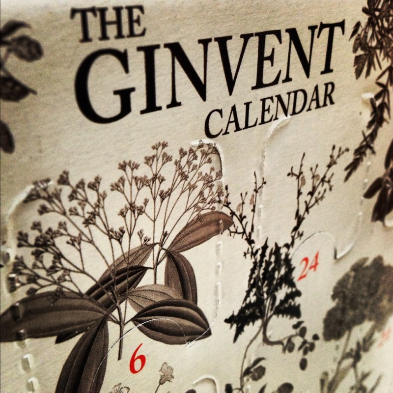Ginvent Calender 2012. Photo by The Gin Blog