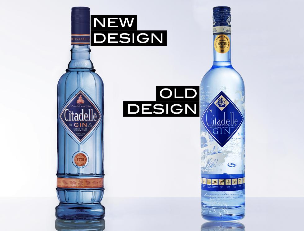 New design for Citadelle Gin