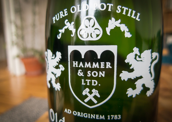 Label of Old English Gin
