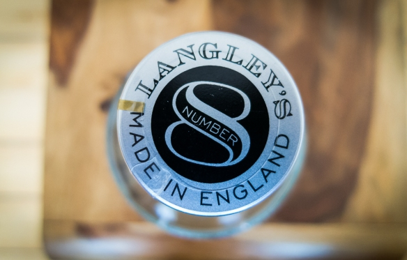 Langley's No. 8 Gin bottle top