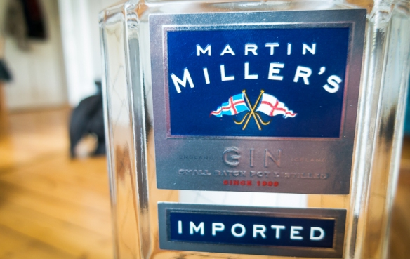 Martin Miller's Gin label. Photo by Michael Sperling