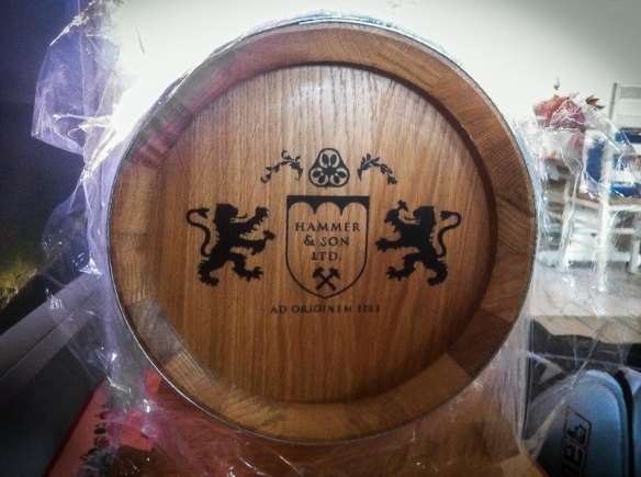 Old English Gin Reserve Barrel. Photo: Hammer & Son.