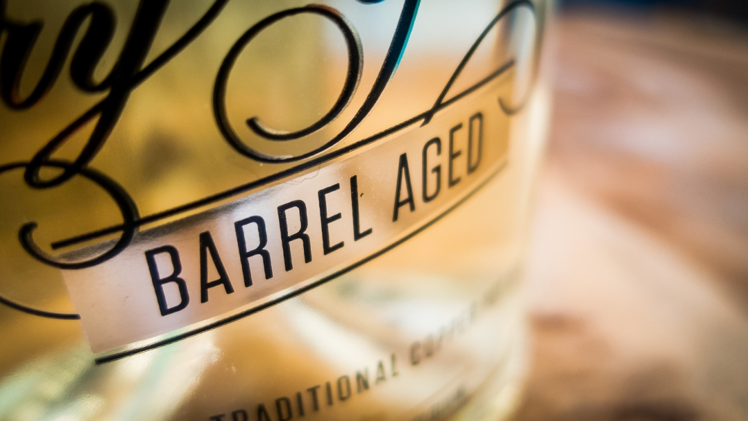 Filliers Dry Gin 28 Barrel Aged sign