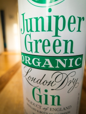 Juniper Green Organic Gin Label. Photo: Michael Sperling.