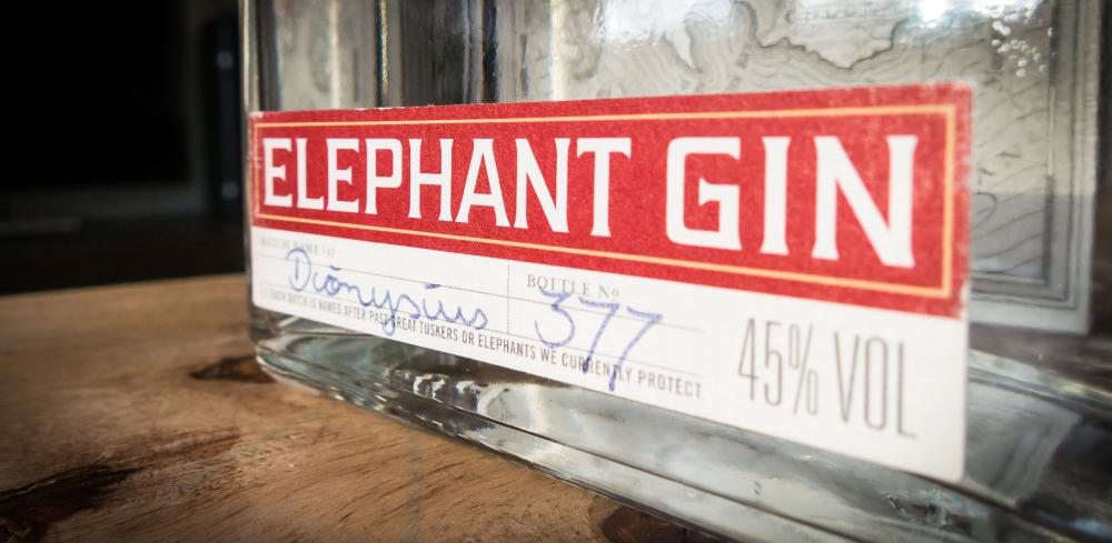 Elephant Gin batch label