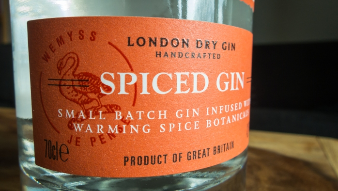 Darnley' View Spiced Gin label