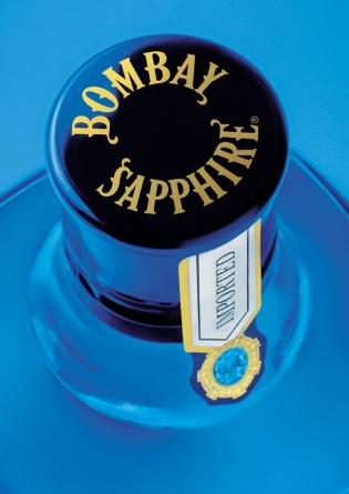 Bombay Sapphire Gin capsule. Photo: Bacardi-Martini.
