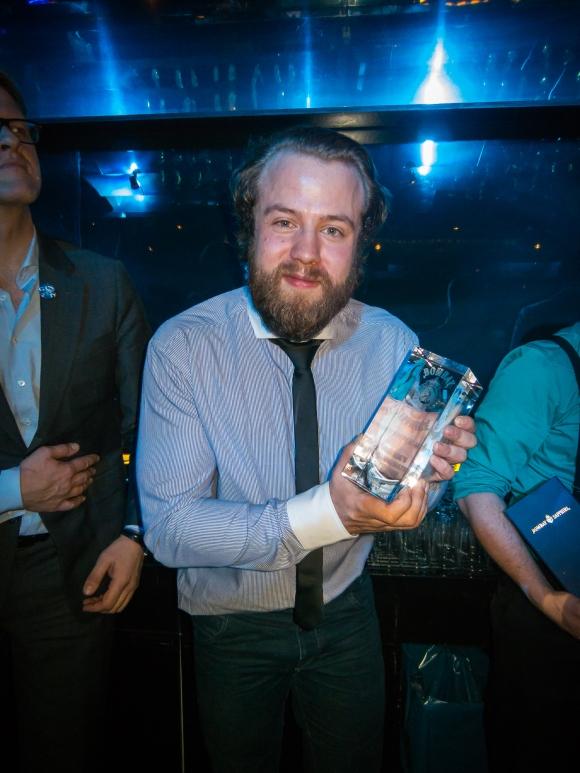Jonas Brandenborg Andersen fra Strøm Bar bliver dansk finalist ved Bombay Sapphire WMIB. Photo: Michael Sperling.