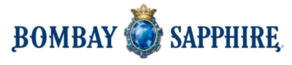 Bombay Sapphire Gin logo. Photo: Bacardi-Martini.
