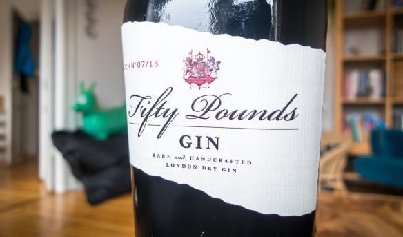 Fifty Pounds Gin label