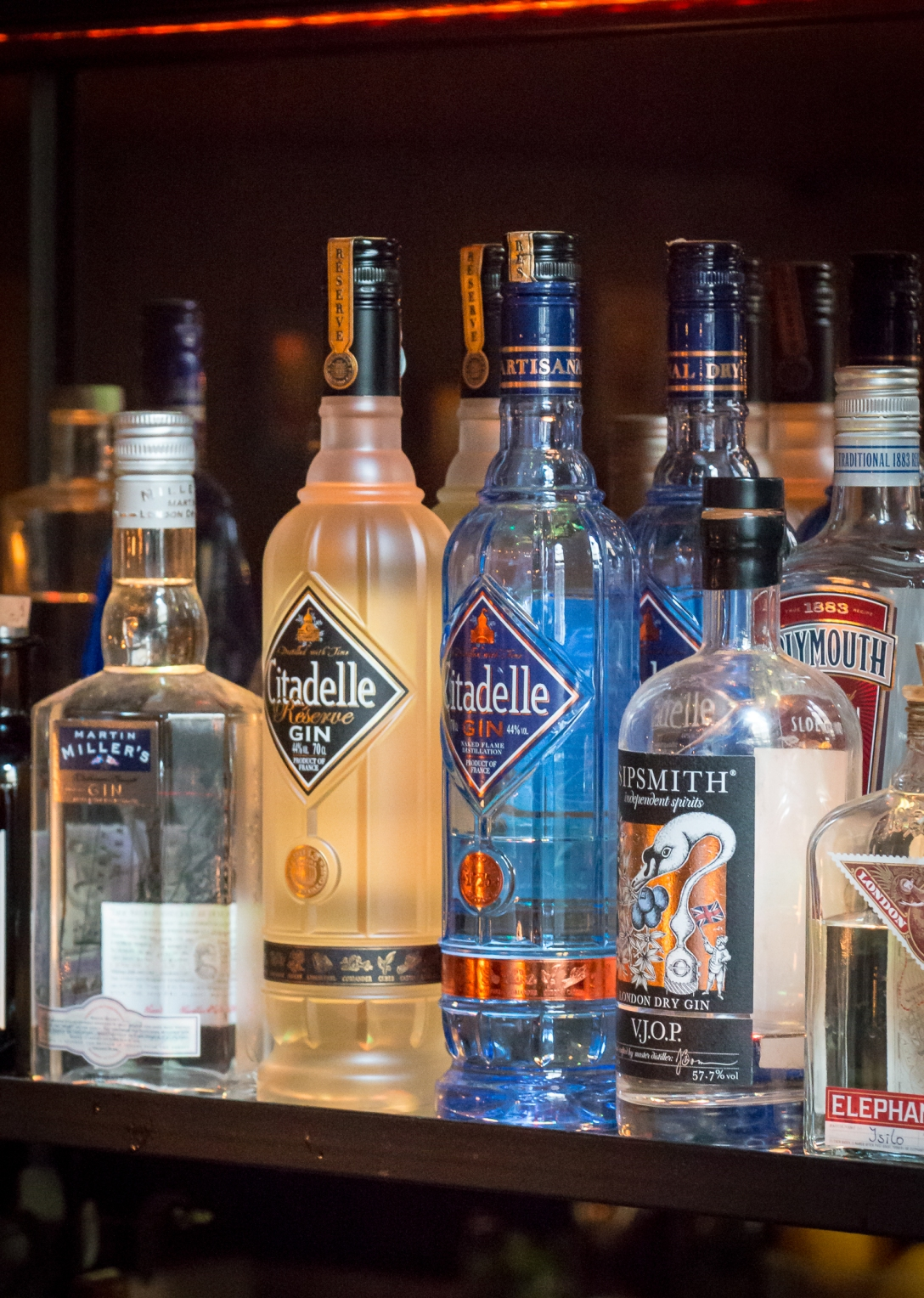 Citadelle Gin at Candeur. Photo by Michael Sperling.