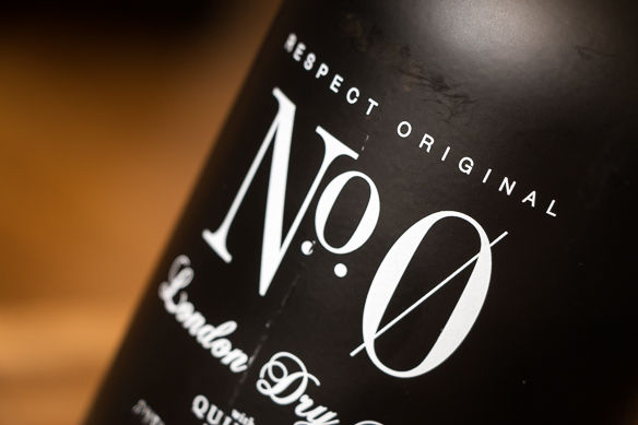 No. 0 Gin Label. Photo: Michael Sperling.