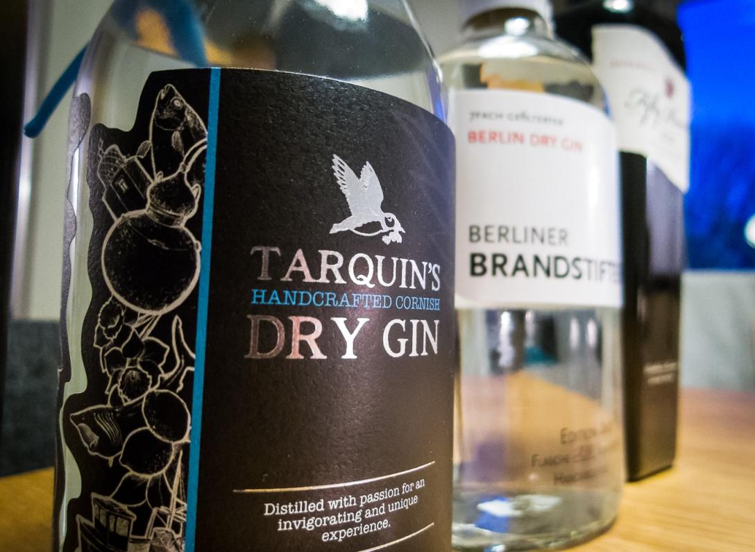 Tarquin's Gin versus Qcumber Sparkling Water. Foto: Michael Sperling.