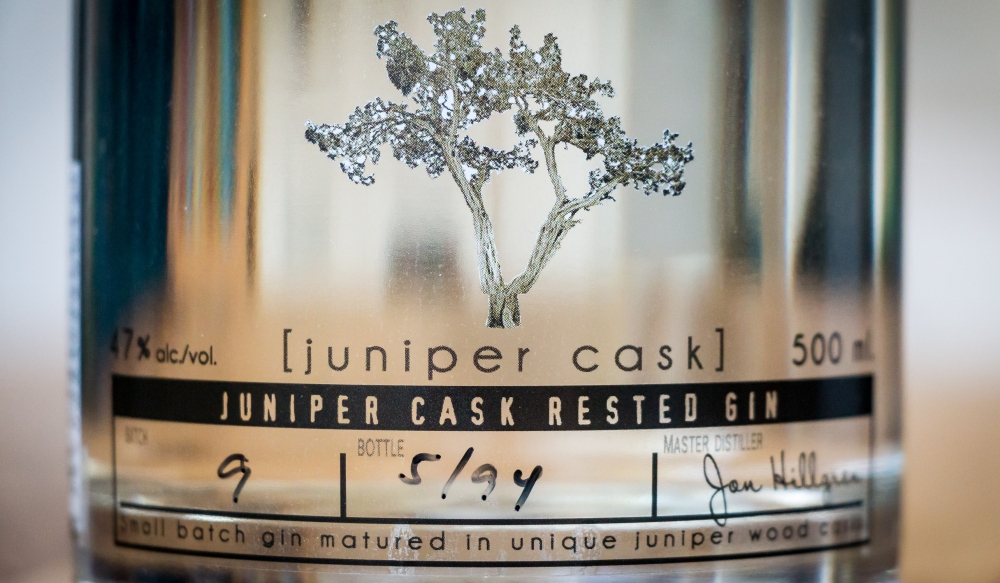 Hernö Juniper Cask Label. Photo by Michael Sperling.