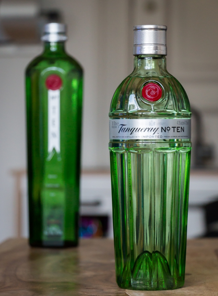 Tanqueray No. Ten old and new. Photo by Michael Sperling.