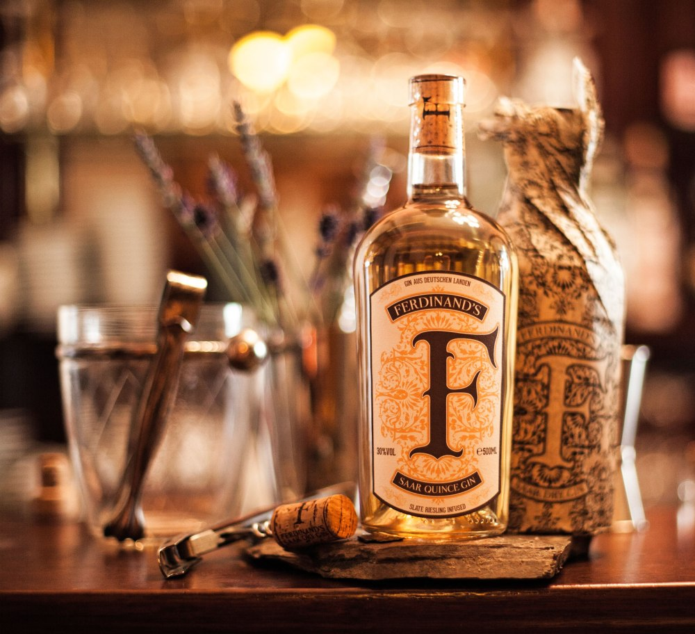 Ferdinands Saar Quince Gin. Photo by Ferdinand's Saar Dry Gin.
