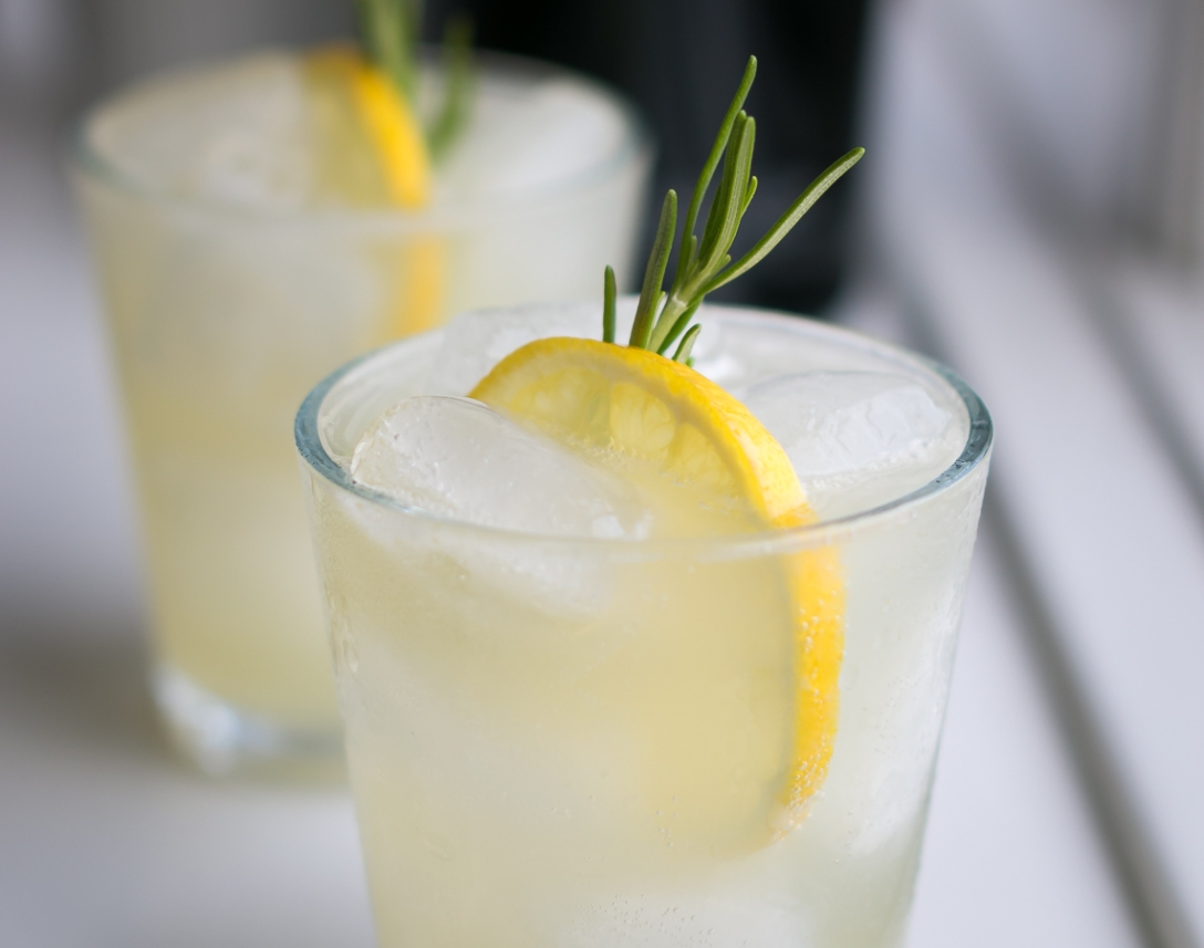 Rosemary Gin Fizz. Photo by Michael Sperling.