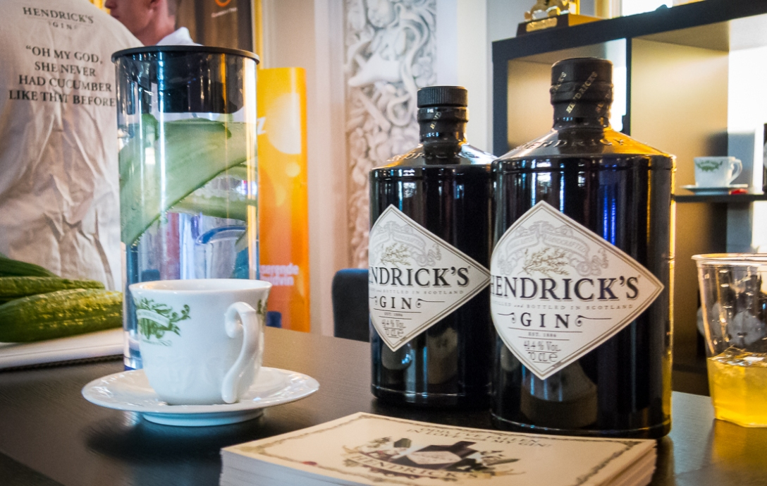 Hendrick's Gin - Gin of Scotland. Photo by Michael Sperling.