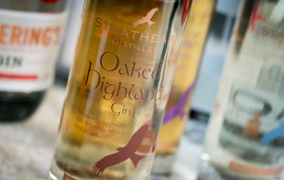Strathearn Oaked Highland Gin  - Gin of Scotland. Photo by Michael Sperling.