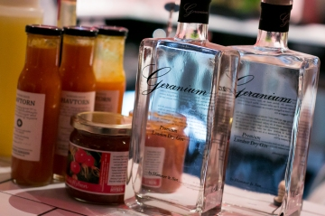 Geranium Gin blev anvendt i vindercocktailen.