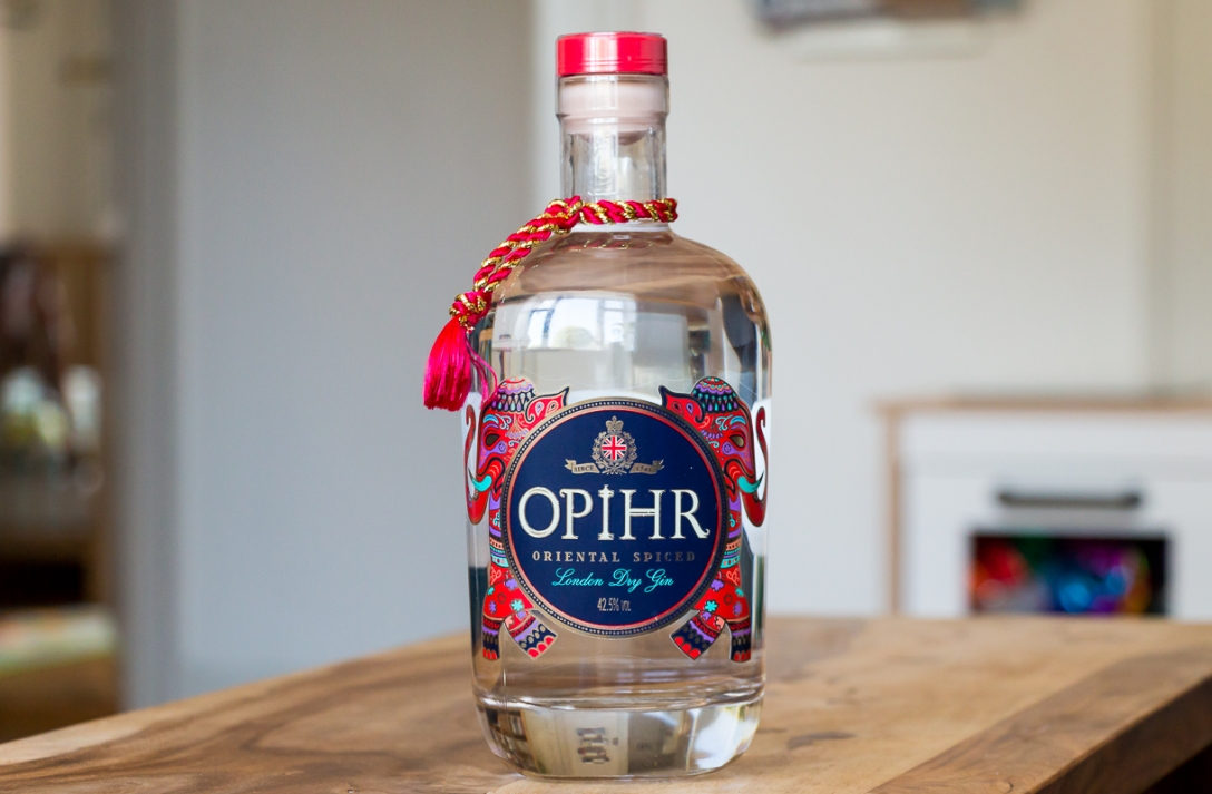 Opihr Oriental Spiced Gin. Photo by Michael Sperling.