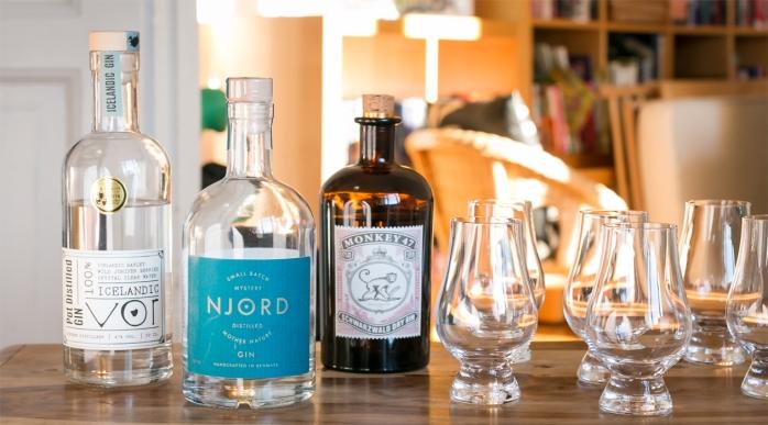 Smag bl.a. Vor Gin, Njord Gin og Monkey 47 Distiller's Cut 2014. Photo by Michael Sperling.