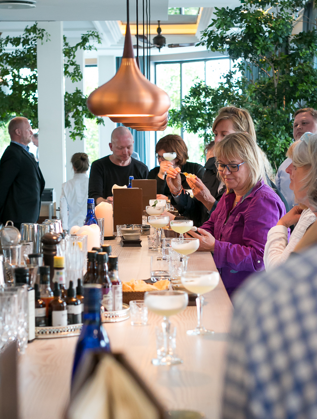 Gin Master Class på restaurant Verandah. Photo by Michael Sperling.