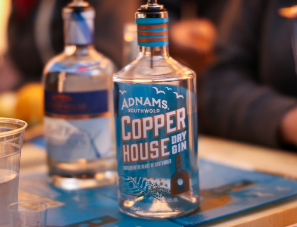 Adnams Copper House Dry Gin. Junipalooza 2015. Photos by Michael Sperling.