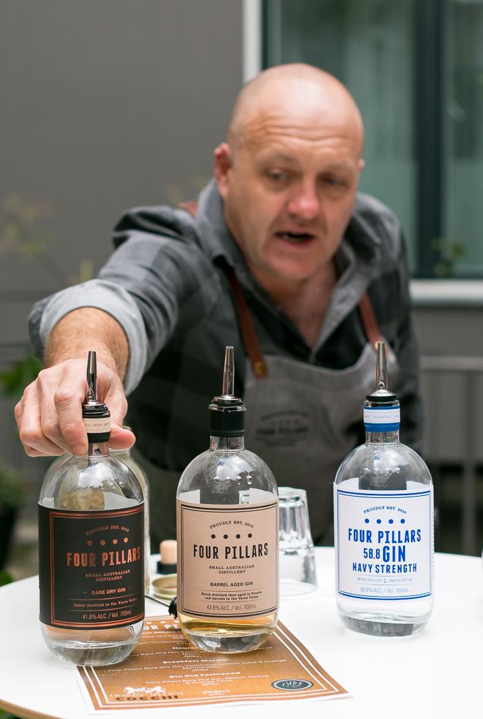 Four Pillars Gin Master Class med Stuart Gregor. Photo by Michael Sperling.