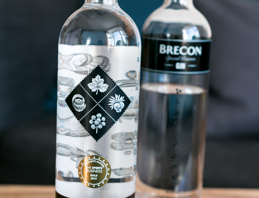 Brecon Botanicals Gin og Brecon Special Reserve Gin. Photo by Michael Sperling, En Verden af Gin.