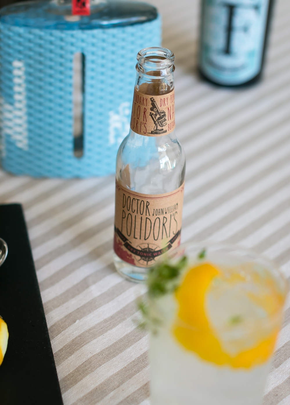 Gin and Tonic med Ferdinand's Saar Dry Gin og Doctor Polidoris Tonic. Photo by Michael Sperling, En Verden af Gin.