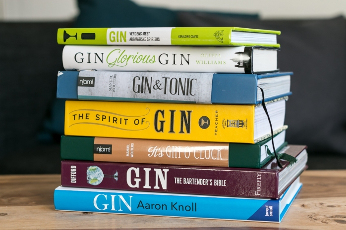 Gin books. Photo by Michael Sperling, En Verden af Gin.