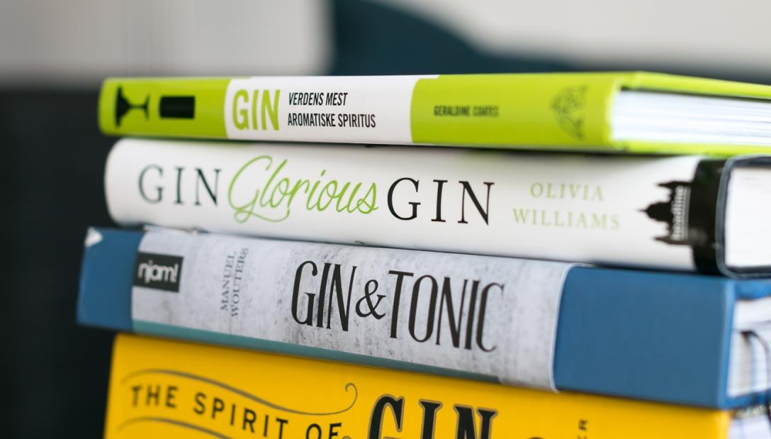 Gin books. Photo by Michael Sperling, En Verden af Gin.