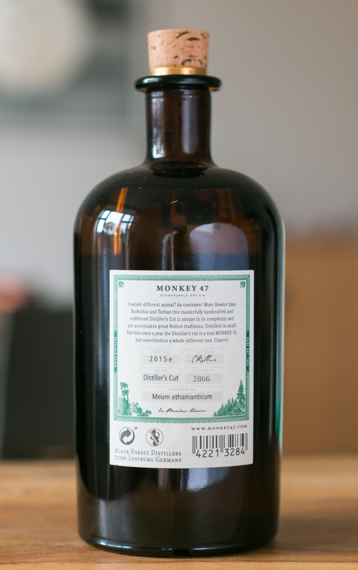 Monkey 47 Distiller's Cut 2015. Photo by Michael Sperling,