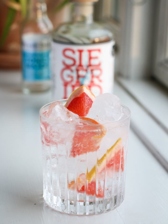 Gin and Tonic med Siegfried Rheinland Dry Gin og Fever-Tree Mediterranean Tonic. Photo by Michael Sperling, En Verden af Gin.