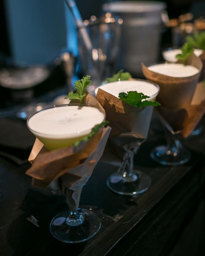 Ulrich Deleuran Steffensens DM-cocktail, Green Velvet. Photo by Michael Sperling.