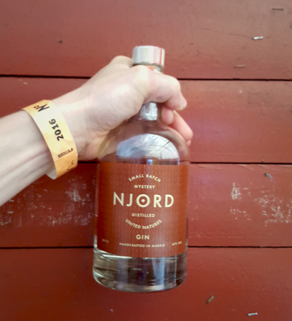 Den nye Njord Distilled United Natures afsløres på årets NorthSide. Photo by Spirit of Njord.