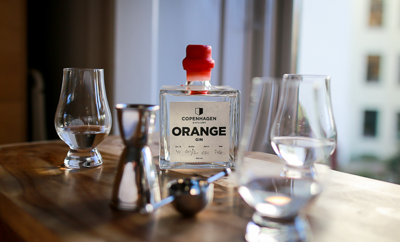 Copenhagen Distillery Orange Gin. Photo by Michael Sperling.
