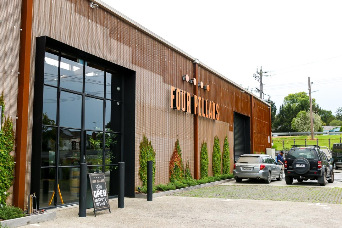 The Four Pillars Distillery i Healesville. Photo by Michael Sperling.
