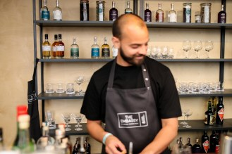 Bartender Younnes Tizar. Photo by Michael Sperling.