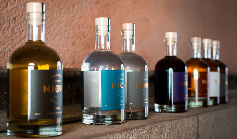 Njord Gin Special Editions. Photo by Michael Sperling.