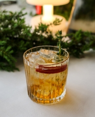 Apple-Thyme Smash cocktail. Photo by Michael Sperling.