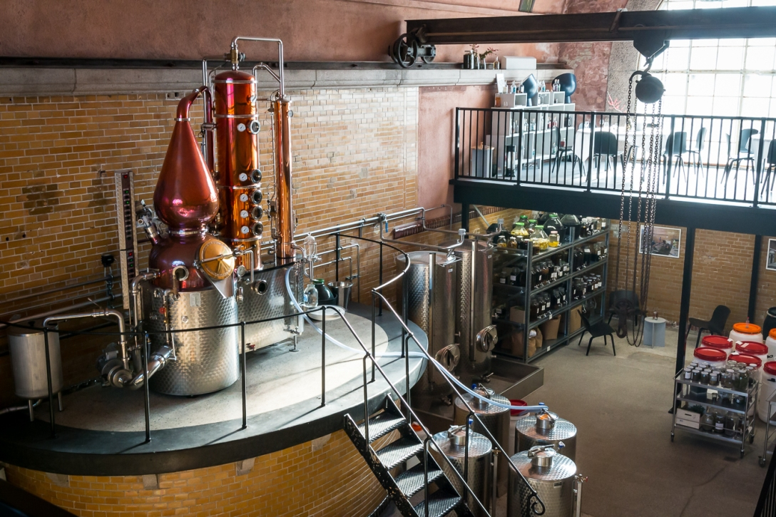 Njord Gin Distillery. Photo by Michael Sperling.