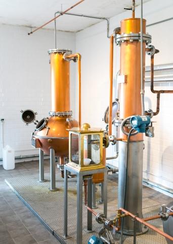 150-liters destillatoren hos Peter in Florence Distillery. Michael Sperling.