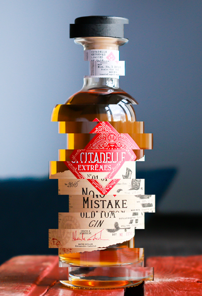 Citadelle No Mistake Old Tom Gin. Photo and graphics by Michael Sperling.