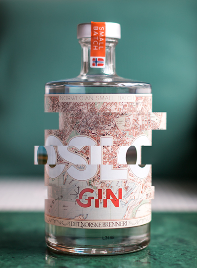 Oslo Gin. Photo and graphics by Michael Sperling.