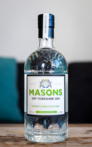 Masons Yorkshire Gin Steve's Apple Edition. Photo by Michael Sperling.