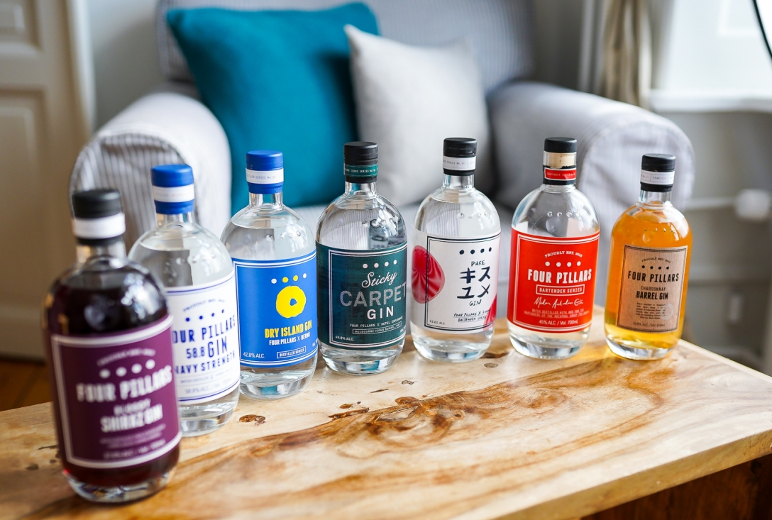 Four Pillars Gins. Photo by Michael Sperling.